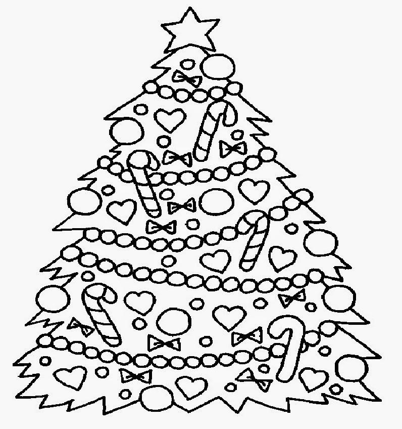 Dibujos de navidad para colorear for Arbol navideno para colorear
