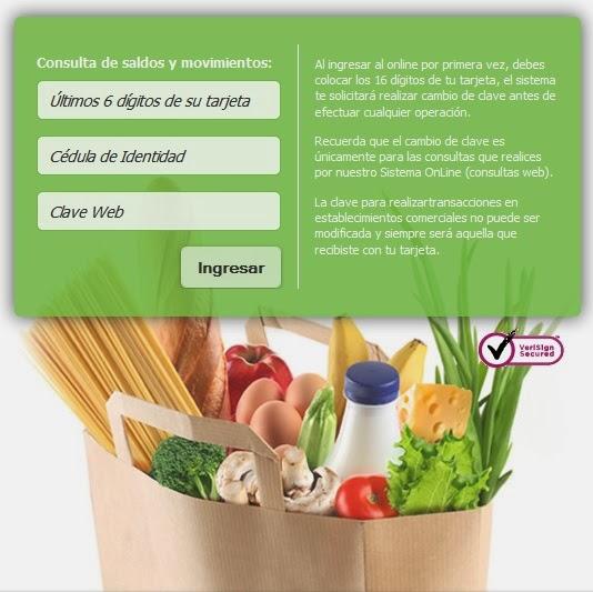 Como consultar la tarjeta de alimentacion del banco de for Banco de venezuela consulta de saldo